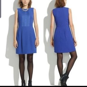 Madewell  Royal blue  pleat front  dress Sz 4